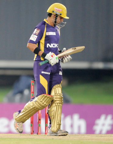 Gautam Gambhir of the Knight Riders