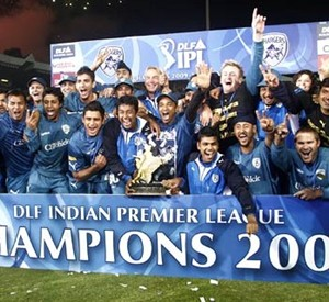 The triumphant Deccan Chargers squad