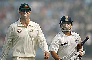 Mathew Hayden and Sachin Tendulkar