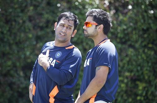 MS Dhoni with Virat Kohli
