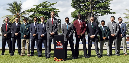 Captains of all the teams participating in the T20 WC at a photo call