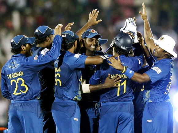 Sri Lankan players celebrate