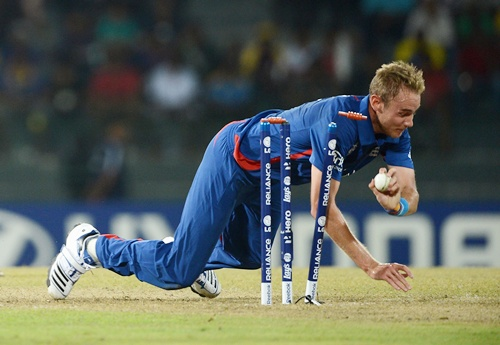 England captain Stuart Broad