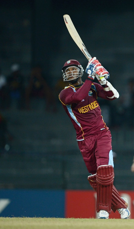 Marlon Samuels of the West Indies