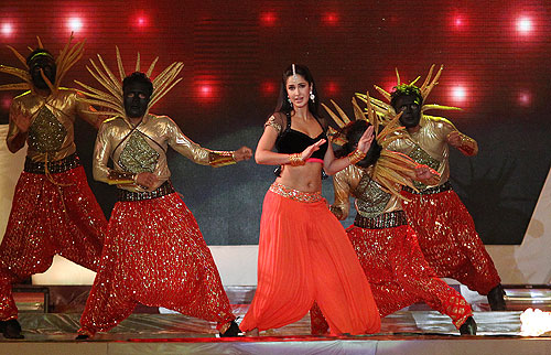 Katrina Kaif dances at the IPL opening gala