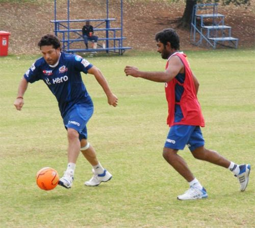 Sachin Tendulkar and Ambati Rayudu