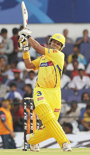 Raina shone with the bat
