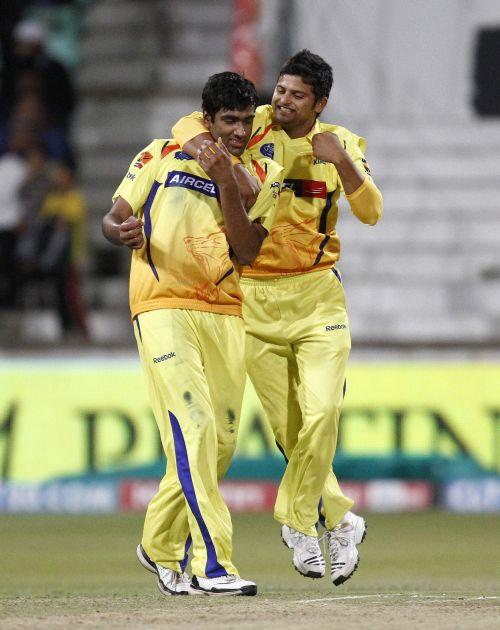 R Ashwin and Suresh Raina