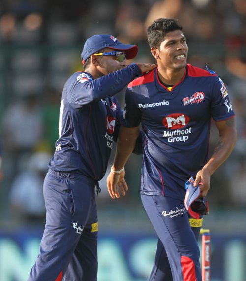 Umesh Yadav and Mahela Jayawardene