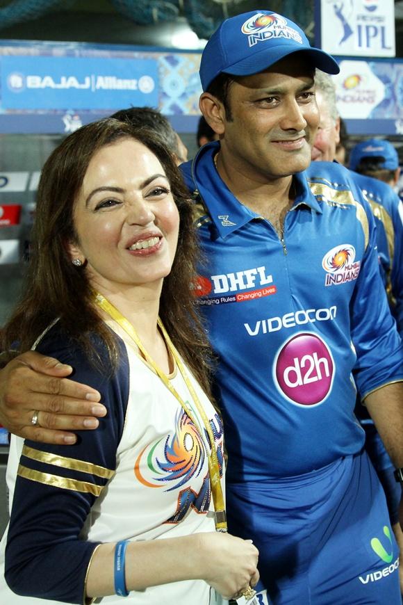 Nita Ambani and Anil Kumble