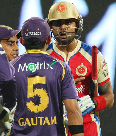 Ipl Gambhir Kohli Involved In Ugly On Field Spat Rediff
