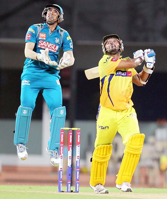 Murali Vijay is caught on the off-side