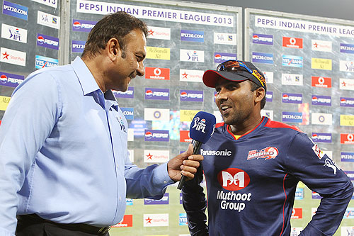Mahela Jayawardene interviewed after the match