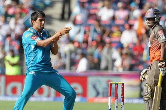 Rahul Sharma celebrates