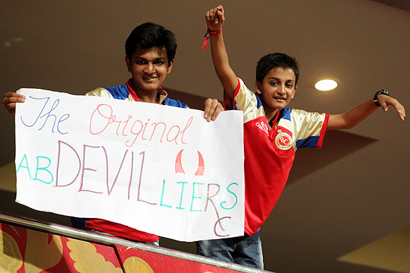 Supporters of AB de Villers at their naughty, creative best