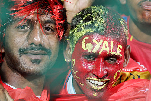 A Chris Gayle fan at the match on Tuesday
