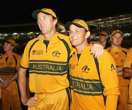 Glenn McGrath and Adam Gilchrist
