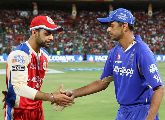 Rahul Dravid and Virat Kohli at the toss