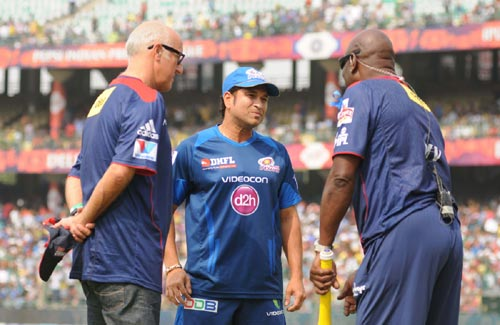 Viv Richards and Sachin Tendulkar