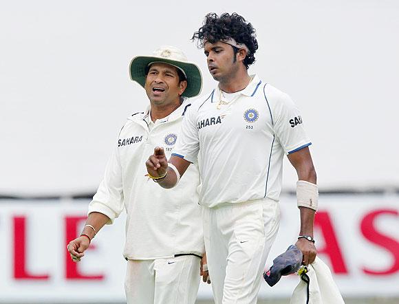 Sachin Tendulkar talks to S Sreesanth