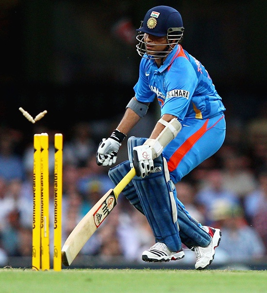 Tendulkar first batsman to be declared run-out by a third umpire