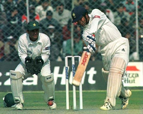 Tendulkar scored 118 runs vs Pakistan leading India to victory at Sharjah in April 1996