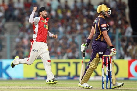 Harmeet Singh celebrates after having Kallis caught behing