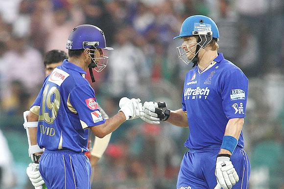 Shane Watson and Rahul Dravid