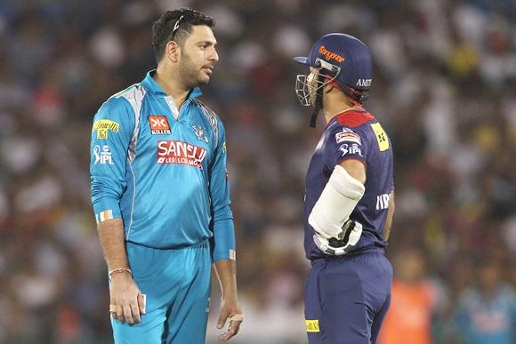 Virender Sehwag with Yuvraj Singh