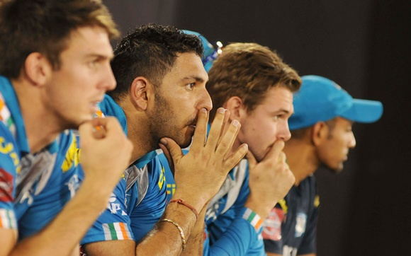 Pune Warriors players