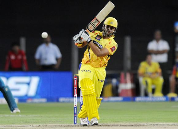 Suresh Raina of Chennai Super Kings bats