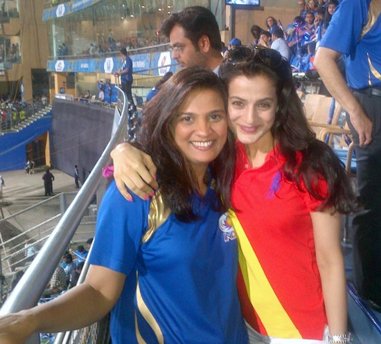 Spotted: Ameesha Patel at IPL match in Mumbai