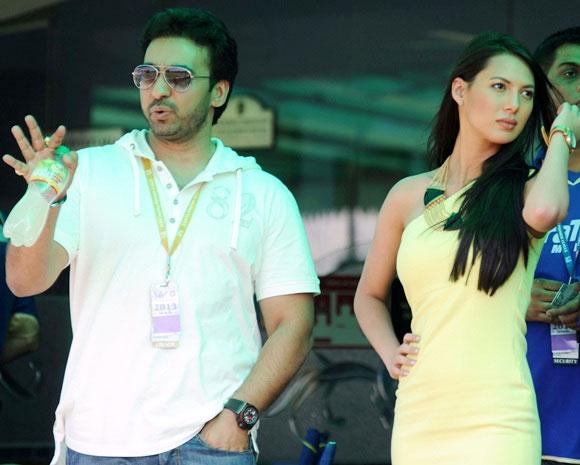 Raj Kundra with Rochelle Maria Rao