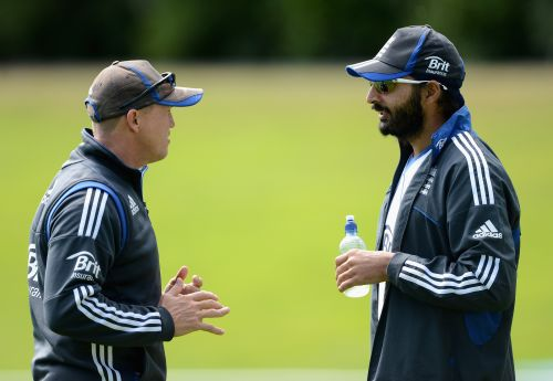 Monty Panesar and Andy Flower