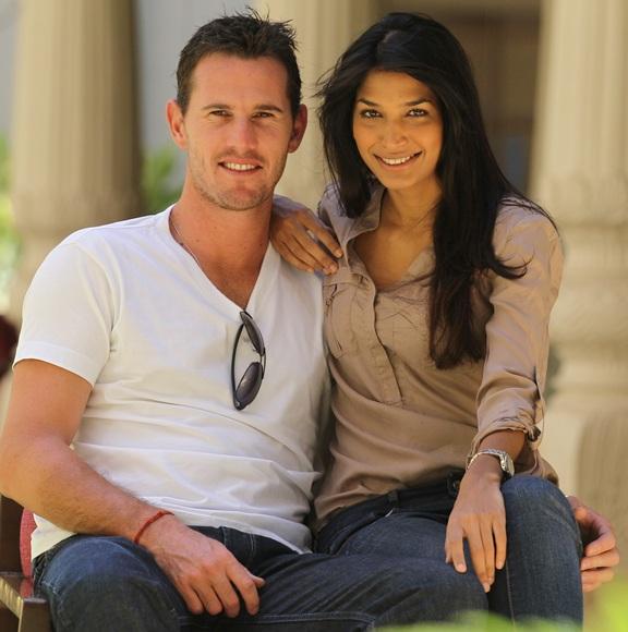 Shaun Tait and girlfriend Mashoom Singha