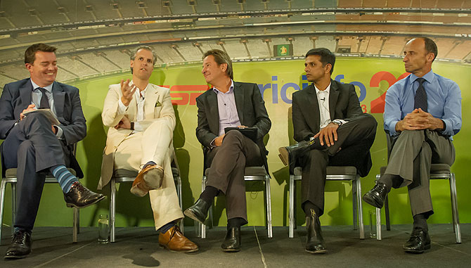 The special guests share their views at the event organised by ESPNcricinfo in London on Monday