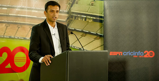 Rahul Dravid at the event organised by ESPNcricinfo in London on Monday
