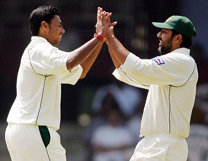 Danish Kaneria and Inzamam-ul Haq