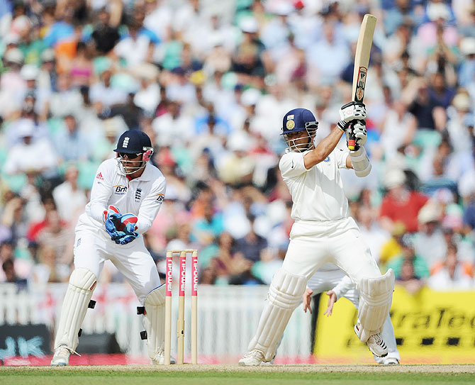 Sachin Tendulkar in action against England, The Oval, August 22, 2011. India hasn't played a five Test series since 2002.