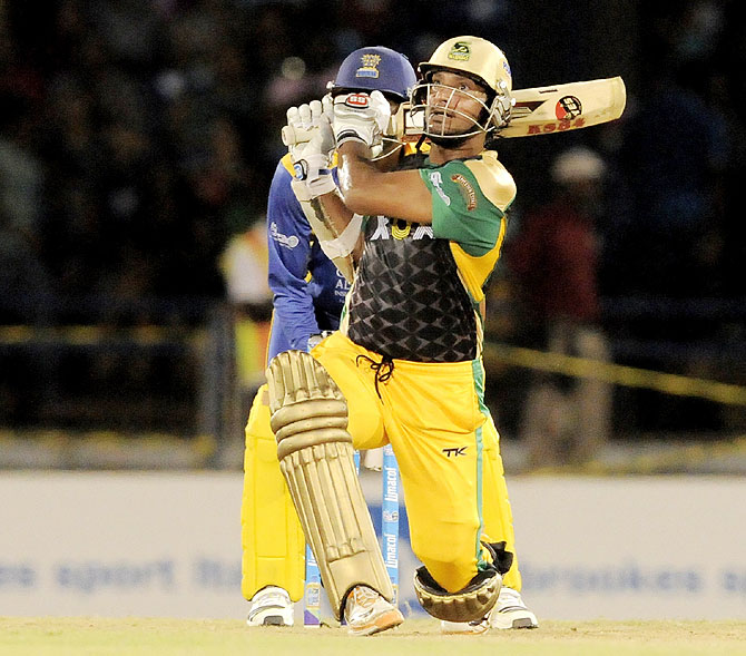Kumar Sangakkara batting for Jamaica Tallawahs