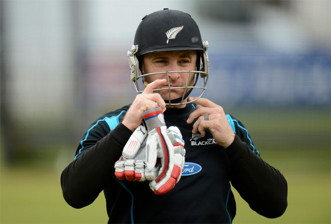 New Zealand's captain Brendon McCullum
