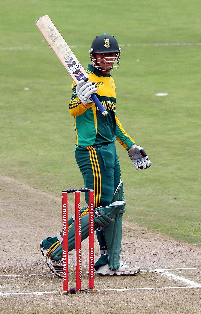 Quinton de Kock on completing 50 runs
