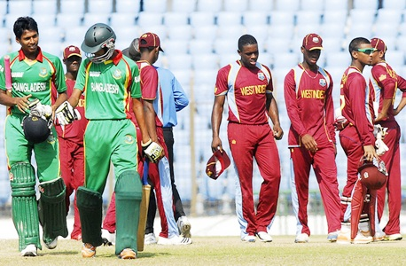 West Indies and Bangladesh under-19 teams