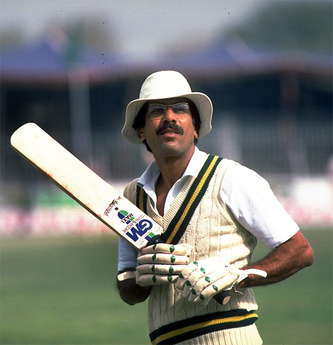 Portrait of Pakistan Captain Zaheer Abbas