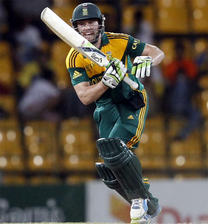 South Africa's captain AB de Villiers