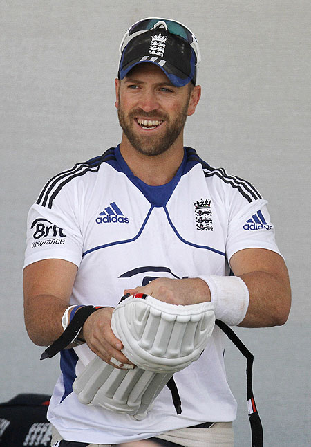 Matt Prior at a practice session