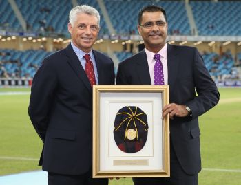 Rediff Sports - Cricket, Indian hockey, Tennis, Football, Chess, Golf - Waqar Younis inducted into the ICC Hall of Fame