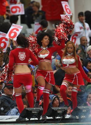 Cheerleaders during an IPL match