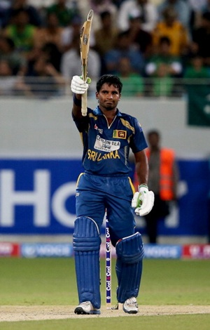 Kusal Perera celebrates his fifty