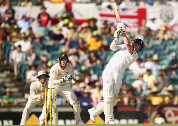 Ben Stokes of England bats during day four of the Third Ashes Test Match between Australia and England at WACA